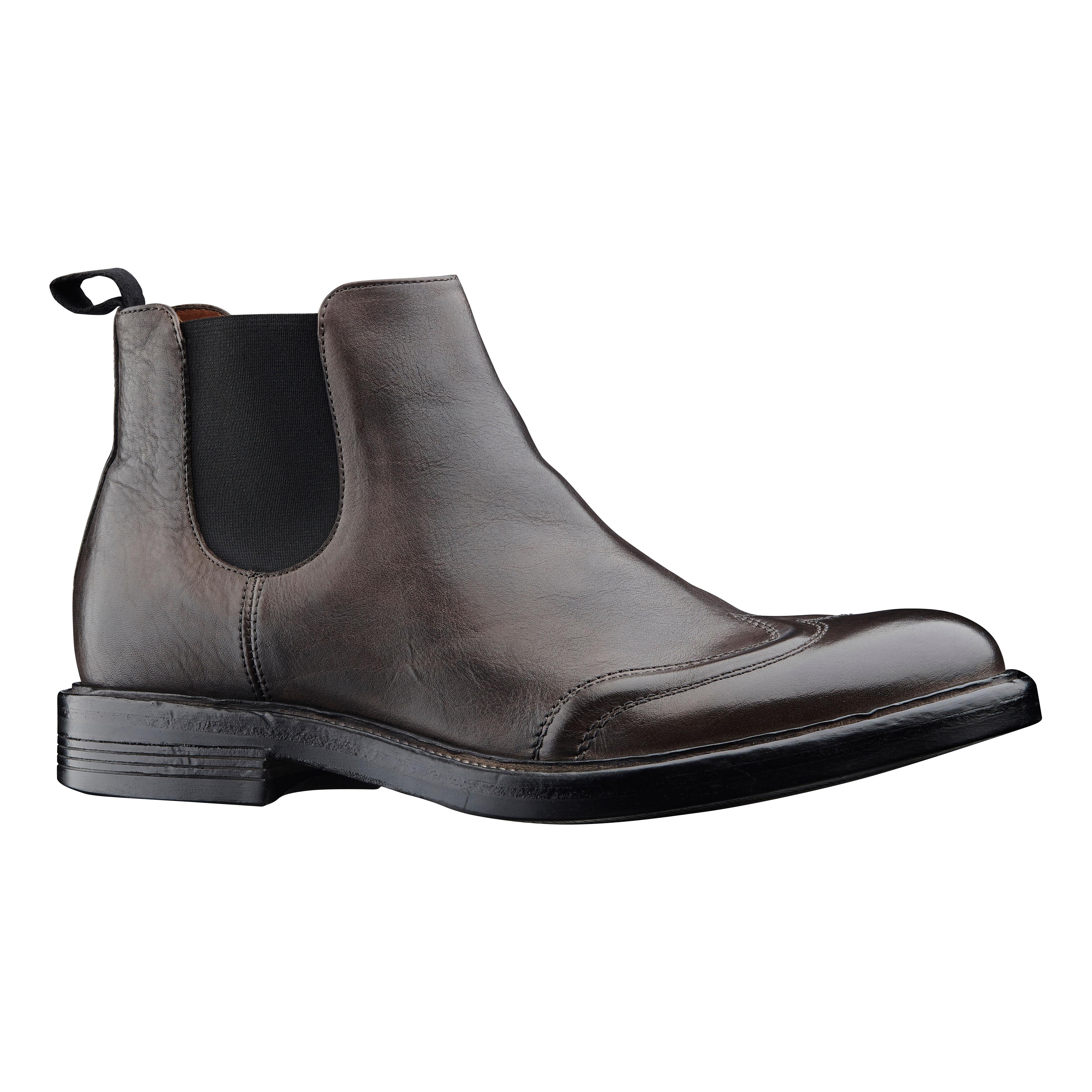 Enkel brun herrestøvlet