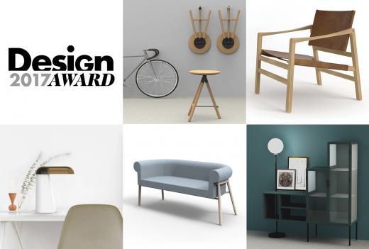 De fem finalister i Design Award 2017 er nu fundet